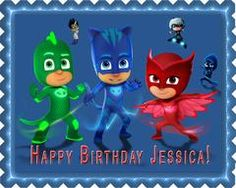PJ Masks 5 Edible Birthday Cake Topper OR Cupcake Topper, Decor #edibleprintsoncake, #ediblecaketopper, #ediblecakeimage,