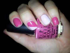 Playing with pink colours! #nailart