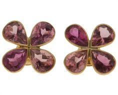 Marie-hélène De Taillac Flower Petals Earrings in Purple