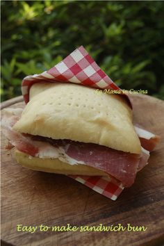 Easy to make bun sandwiches Soft and tasty