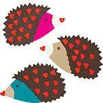 Cute Hedgehog valentines :)