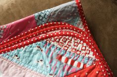 rounded quilt corners, love them (tutorial)