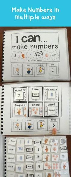 Practice making numbers in multiple ways with this adapted book. Fun, interactive way to teach number sense.