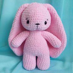 Купить Заяц зефирный вязаная игрушка в интернет магазине на Ярмарке Мастеров