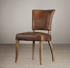 Adèle Leather Side Chair