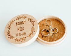 Personalized ring bearer box wedding ring by CorkCountryCottage