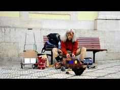 The Birdman street performer in Portugal.  Sounds amazingly good.  I'm in awe that he's actually doing this.