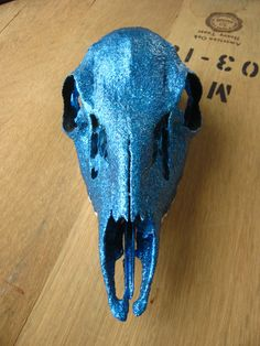 Glitter Deer Skull 'Velvet'. $65.00, via Etsy.