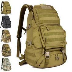 e61d6d9f481d FREE SHIPPING Men Women Unisex Outdoor Military Tactical Backpack  CampHiking Bag Rucksack 45L MOLLE Large Big