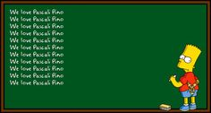 Bart Simpsons Chalkboard