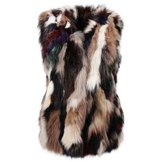 Fur waistcoat ❤ liked on Polyvore featuring outerwear, vests, brown waistcoat, brown fur vest, waistcoat vest, fur vests and brown vest