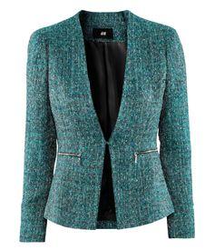 #BrooklynBlonde #HMLuckyPicks #fallfashion, tweed jacket