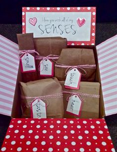 I love you with all of my SENSES- 5 Senses Valentine's Gift