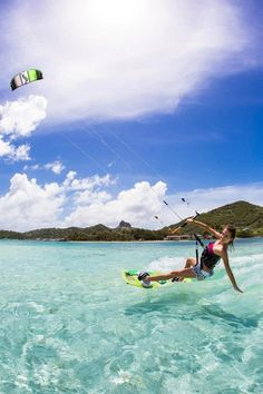 Kite-surfing heroine  #kitesurfing   http://www.blueprinteyewear.com/ hypergo #watersports Best wipes for sports Go to hypergo.com