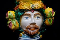 "traditional Sicilian Ceramic Heads ""Teste di Moro"" , to know more read thejuicesqueezer.com [ photo of © Touch of Sicily ]"