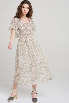 Women's What's new Tie Dress, Latest Fashion Trends, Cold Shoulder Dress, Dresses With Sleeves, Jin, My Style, Floral, Shopping, Clothes