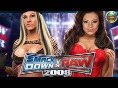 WWE 2008 Ashley vs Candice Michelle #Divas