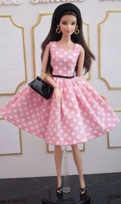 BArbie pink hand made dress