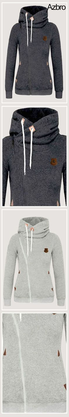 This sweatshirt featuring full-zip closure and funnel neck with drawstring hood, it's suitable for casual or sport wear in cool and cold weather. Most wish and best choice for you at Azbro!