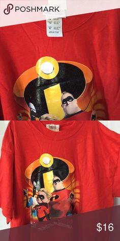 NEW Disney official Mr. Incredible tees Kids XL roomy enough for a wide range of sizes! 2 available brand new Disney Shirts & Tops Tees - Short Sleeve