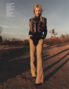 Ginta Lapina By Jan Welters For Elle France February 2014
