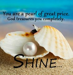 sea shells with scriptures Spiritual Quotes, Wisdom Quotes, Uplifting Quotes, Inspirational Quotes, Pearl Quotes, Bride Of Christ, Godly Woman, Faith In God, Spiritual Inspiration