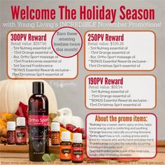 Welcome November and Young Living's most AMAZING promotion EVER!!! Check out the details here on how to get the Young Living November 2015 promo