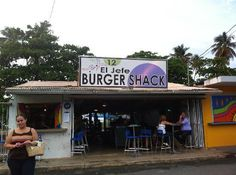 Don't let looks fool you! Best burger in Puerto Rico! And their ginger mojitos are worth the trip.