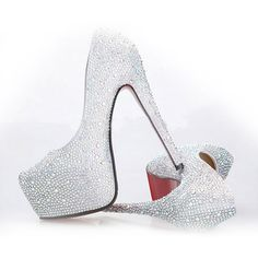 Women's Pumps w/ Platform & Rhinestone Size 33-42 8 Colors