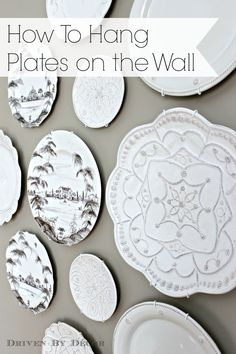 Creating a Decorative Plate Wall How To Hang Plates  sc 1 st  Pinterest & How to Hang Plates on the Wall | Pinterest | Hanger Ann and Fabrics