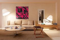 Canvas Printing Formats & Pricing - Pictorem.com Hot pink and black digital art G75 #Pictorem #Print #Canvas #Poster #Acrylic #Metal #Picture #Frame #Mural #Wall #Art #painting #abstract #pink #black #grunge #brushstrokes #mural #modern #scratched #paint #digitalart