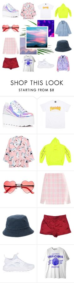 """""""a f ucking fabulous mood board"""" by jceelynn ❤ liked on Polyvore featuring Y.R.U., H&M, John Lewis, Marc Jacobs and NIKE"""