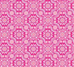 Florastar - Bright Pink Mural - Jenean Morrison| Murals Your Way