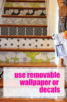 Use Removable Wallpaper or Decals