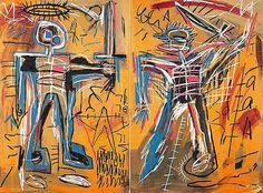 """Offensive Orange"" by Jean Michel Basquiat"