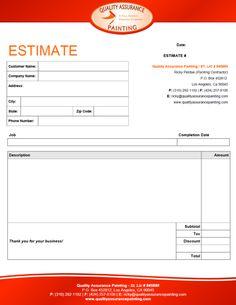 Free construction quote template free contractor estimate - Interior design estimate excel sheet ...