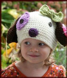 Puppy crochet baby hat