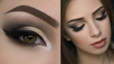 grüne Augen schminken Sommer goldene Lidschatten