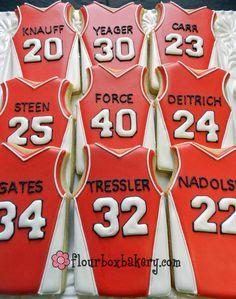 Basketball jersey sugar cookies