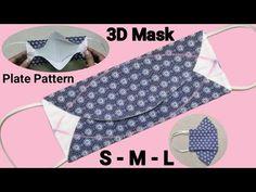 Easy Face Masks, Homemade Face Masks, Diy Face Mask, Sewing Hacks, Sewing Tutorials, Sewing Projects, Bag Pattern Free, Sewing Patterns Free, Mascara 3d
