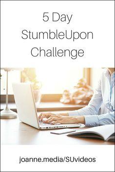 Take the free 5 Day StumbleUpon Challenge. #bloggers #socialmedia #marketing
