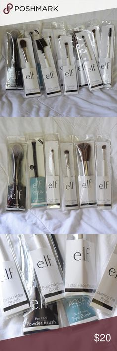 NWT 11 Piece e.l.f. Makeup Brush Set 100% BRAND NEW NEVER USED! 11 e.l.f. brushes, completely new in original packaging. Comment if you have any questions! I'M ACCEPTING ALL REASONABLE OFFERS! e.l.f. Makeup Brushes & Tools
