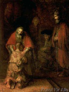 Harmensz van Rijn Rembrandt - Return of the Prodigal Son, c.1668-69