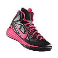 I designed the black Nike Hyperdunk 2014 iD men's basketball shoe with hyper pink trim.