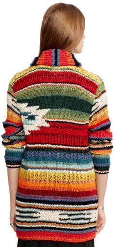 Polo Ralph Lauren Handknit Serape Cardigan in Multicolor (Pattern) | The House of Beccaria~