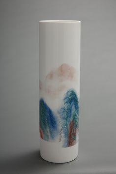 《峰青》釉下五彩瓷
