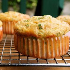 Low-Carb Cottage Cheese Muffins with Cheddar & Scallions
