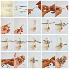 T-shirt yarn macramé puppets by // Between the Lines //, via Flickr