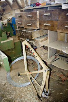 bicicleta de madera ...