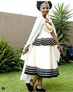 Photos of Traditional Xhosa Wedding Photos: South African + Traditional + Wedding + Dresses Xhosa Attire, African Attire, African Wear, African Women, African Print Dresses, African Print Fashion, African Fashion Dresses, African Dress, Ankara Fashion